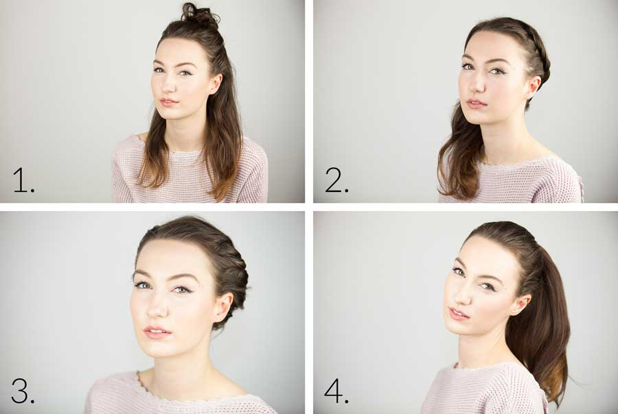4 Quick & Easy Hair Looks